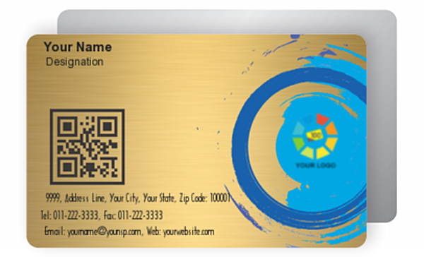 Gold Business Card 000392