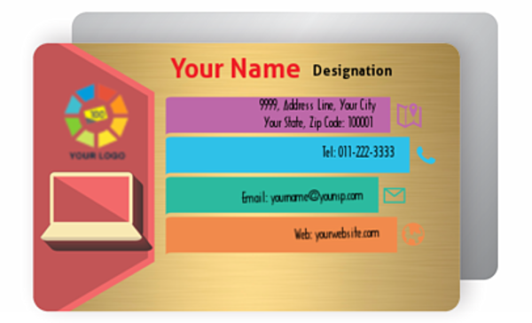 Gold Business Card 000445