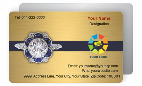 Gold Business Card 000337
