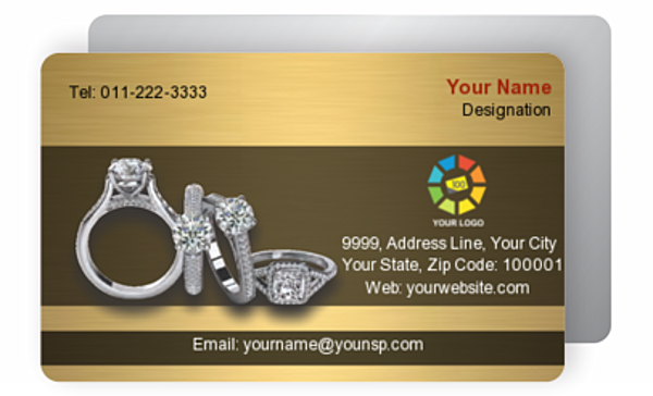 Gold Business Card 000340