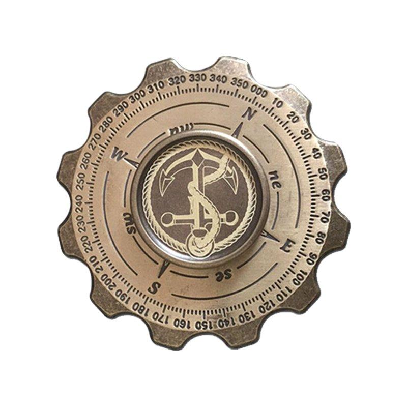Compass gear metal fidget spinner