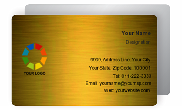 Gold Business Card 000673