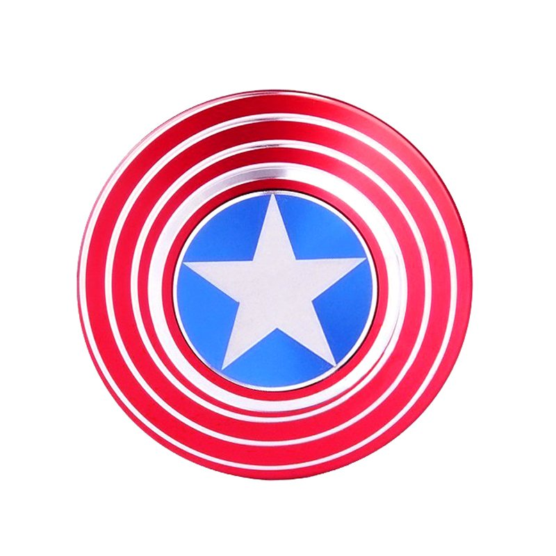 Captain america metal fidget spinner