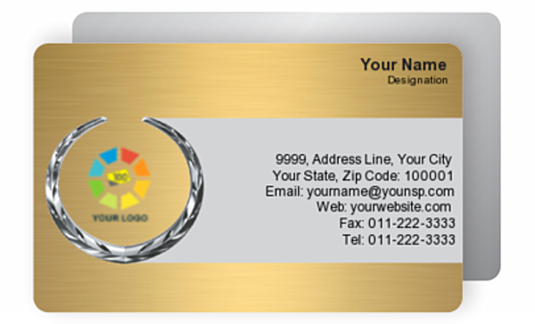 Gold Business Card 000034