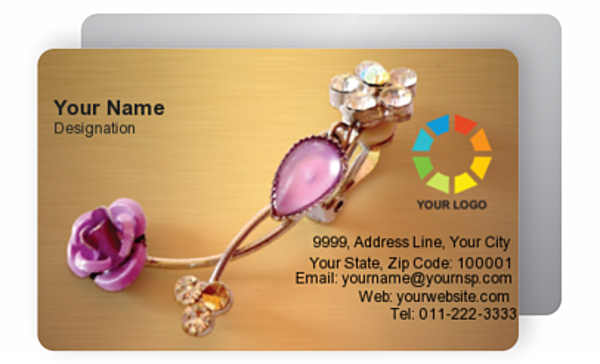 Gold Business Card 000179