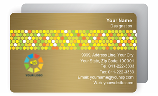 Gold Business Card 000634