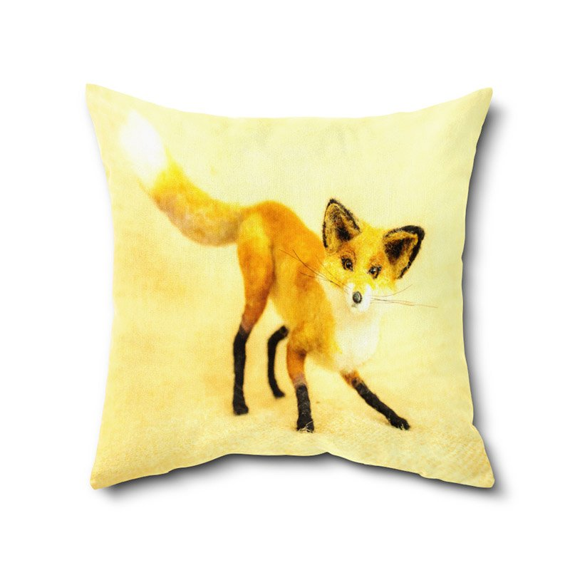 Animal Print Cushion Cover, Digital Print Cushion Covers With Filler By 12 X 12 Inches