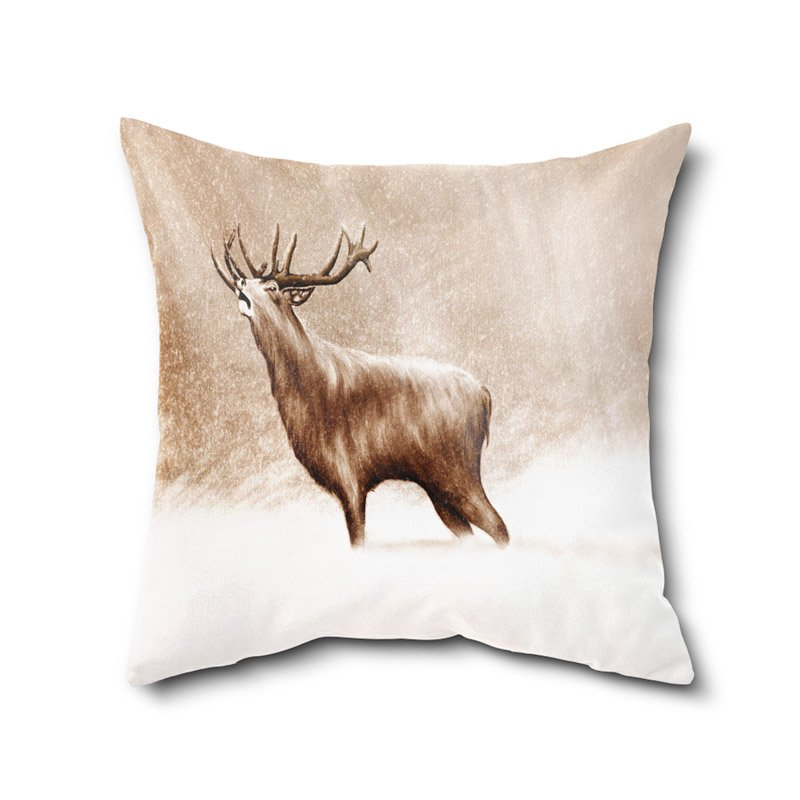 Animal Print Cushion Cover, Digital Print Cushion Covers,High Quality Poly Cotton Cushion Cover With Filler12 X 12 Inches