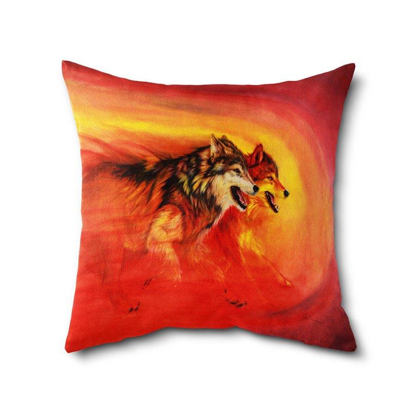 Poly Cotton Animal print cushion cover, digital print cushion covers, printed cushions Cover With Filler 100yelllow