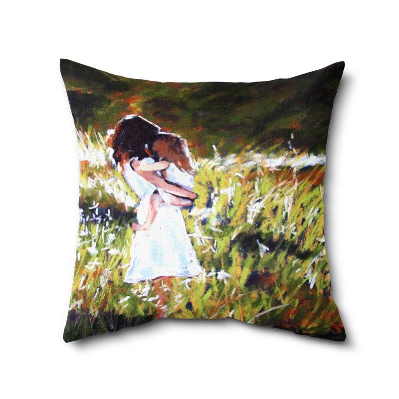 Digital Print Cushion Covers, Baby Print Cushion, Printed Cushion, Poly Cotton Cushion 12 X 12 Inches