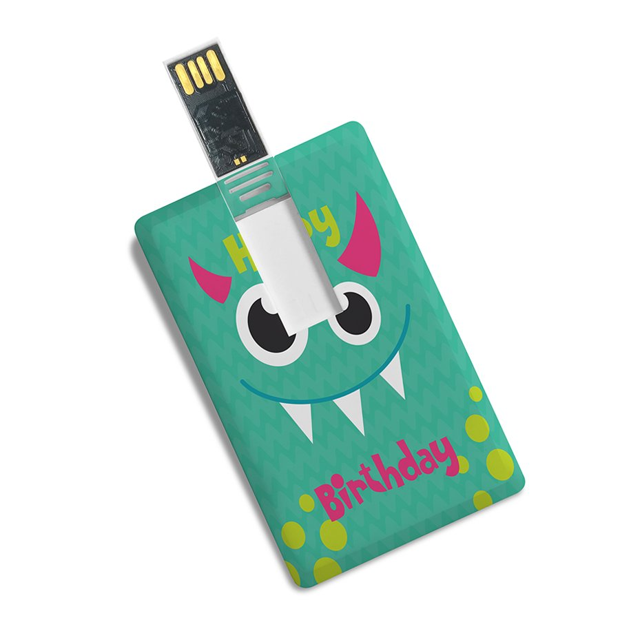 Credit Card Shape Happy Birthday Printed High Speed Pendrive