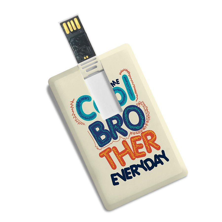 Credit Card Shape Printed High Speed Fancy Pen Drive-Gift For Brother/Sister