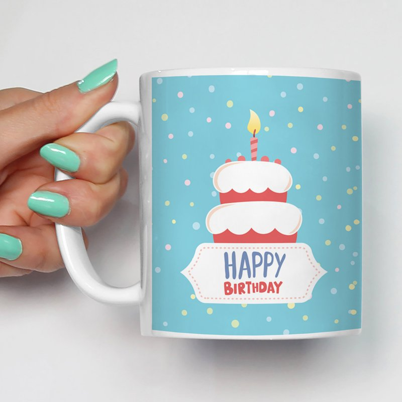 Gift For /Uncle/Aunty Happy Birthday Printed Glossy Finish Ceramic Coffee Mug