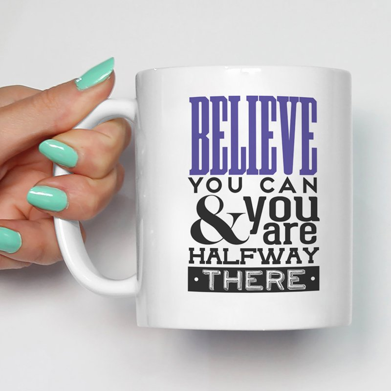 Motivational /Inspirational Quotes Printed /Ceramic Coffee Mugs/Glossy Finish/350 Ml