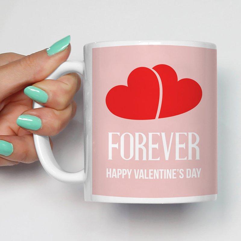 Mug Gift For Boyfriend/ Idea For Anniversary /Forever Happy Valentine'S Day Ceramic Mugs