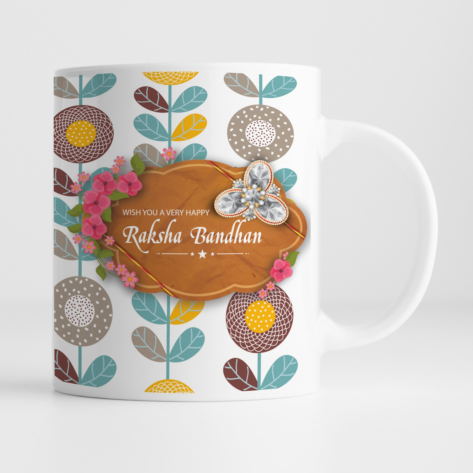 Ceramic Mug |Happy Raksha Bandhan | Rakshabandhan Gift For Brother |Rakhi Gift For Sister |Gift For Rakhi Superior Quality Ceramic Mug