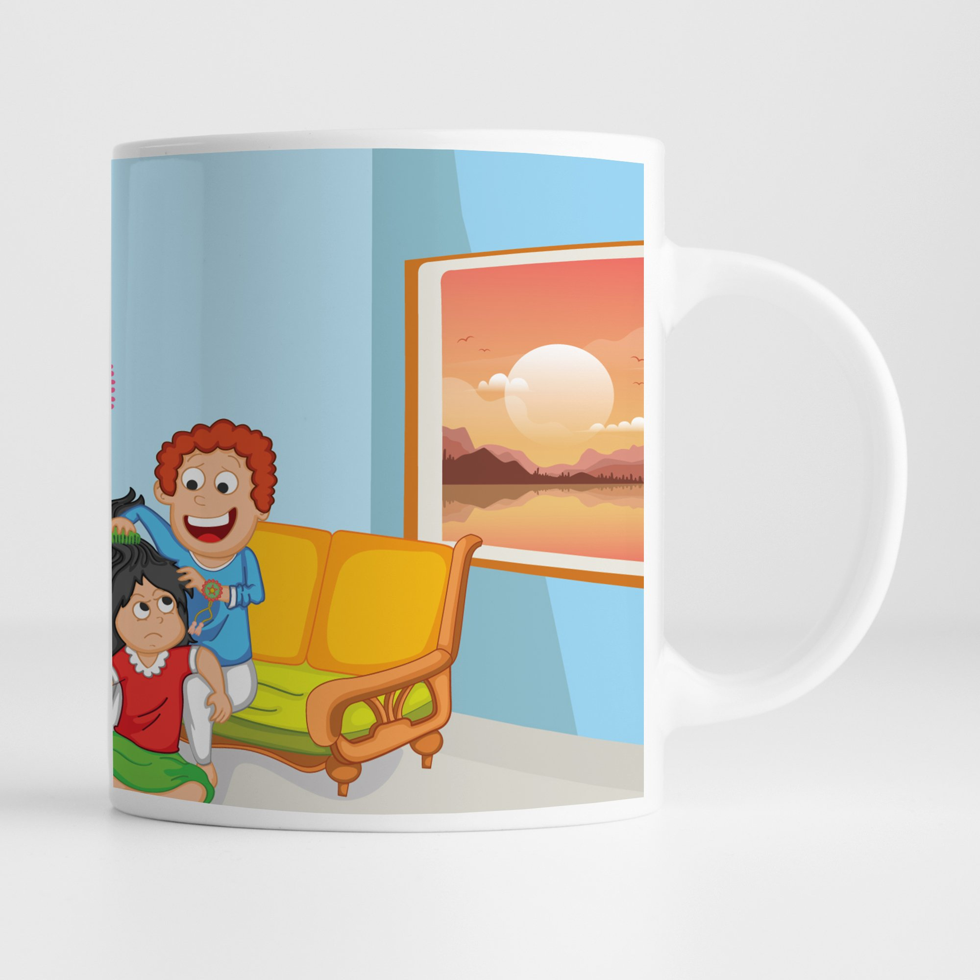 Ceramic Mug  Happy Raksha Bandhan   Rakshabandhan Gift For Brother  Rakhi Gift For Sister  Gift For Rakhi Superior Quality Ceramic Mug