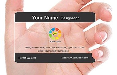 Transparent Business Card 000293