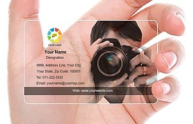 Transparent Business Card 000360