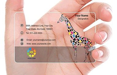 Transparent Business Card 000394