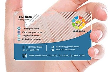 Transparent Business Card 000403