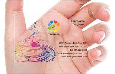 Transparent Business Card 000534