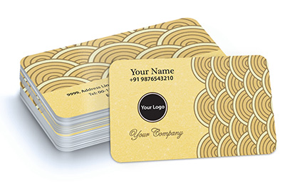 Best customized online printing services india for business 100yellow gold business cards reheart Gallery